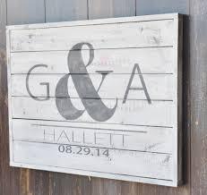 plank wood sign anniversary gift wedding decor home decor