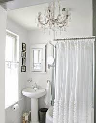 Shabby Chic Shower Curtain Hooks by Chandelier Shower Curtain