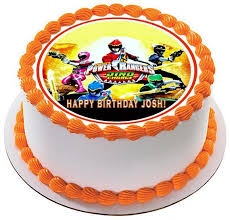 power rangers cake toppers power rangers dino charge 2 edible cake or cupcake topper edible