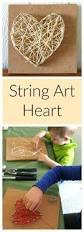 string heart art string heart heart art and fun art
