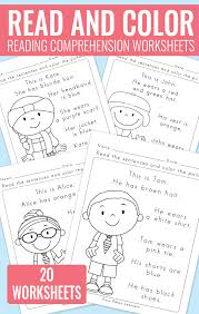 first grade reading coloring worksheets free first grade reading