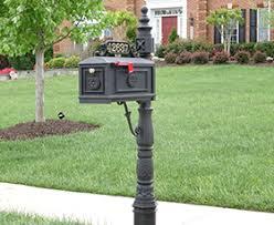 decorative custom black metal cast aluminum mailboxes mailbox post