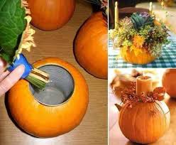 how to make a pumpkin vase centerpiece thanksgiving centerpieces