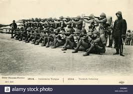 Ottoman Empire World War 1 World War 1 Turkish Infantry 1914 Postcard Series 1914