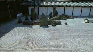 Rock Garden Zen Tofuku Ji Temple Rock Garden Kyoto Japan Hd Stock