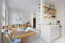 Small One Room Apartments Featuring A Scandinavian Décor - One bedroom design