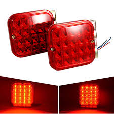 led trailer tail lights brake turn signal lights liplasting 2 pcs led trailer tail light kit