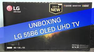 lg 55ef9500 black friday lg 55b6 b6 uhd tv unboxing youtube