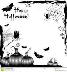 festive illustration on theme of halloween black corner frames
