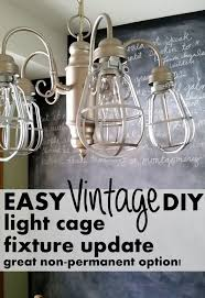 diy light cages for an inexpensive update to any light fixture