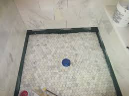 Bathroom Shower Floor Ideas Marble Carrara Tile Bathroom Part 5 Installing The Shower Floor