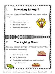 activities thanksgiving math puzzles and brain teasers