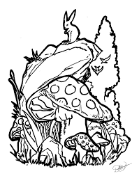 magic mushroom coloring pages for pinterest psychedelic mushroom