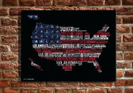 pottery barn us map canvas art planked usa wall art panels pottery