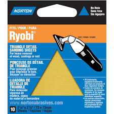 norton 07660749283 adhesive backed triangle sanding sheet for