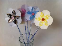 diy cute button paper flowers kids craft idea for mother u0027s day