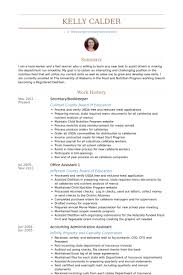 Resume Sample For Secretary by Bookkeeper Resume Samples Visualcv Resume Samples Database