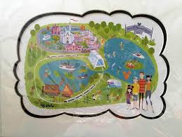 Walt Disney World Maps by Shag Signed 40th Anniversary Wdw Map For Sale Etckt Com