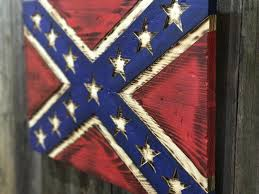 Different Confederate Flags Rustic