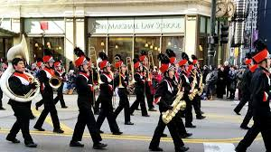 portage high marching band ushers santa into chicago at