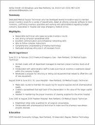 Resume Sample For Pharmacy Technician by Professional Medical Supply Technician Templates To Showcase Your