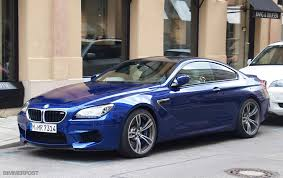 bmw m6 blue san marino blue m6 coupe spotted