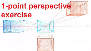 how to do a one point perspective drawing linear perspective