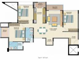 plan floor 1507 sq ft 3 bhk floor plan image nitesh estates caesars palace