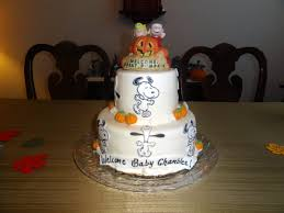 snoopy u0026 the peanuts gang fall baby shower cake birthday and