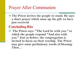 the eucharistic celebration ppt