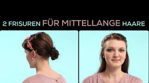 Hochsteckfrisurenen Vorne by Frisuren Mittellang Eingedreht Mit Haarband