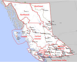 map of bc air zone map province of columbia