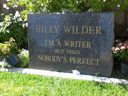 gravestones for halloween billy wilder u0027s grave westwood memorial cemetery los angeles