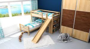 Beech Bunk Beds Apartments Bunk Bed Children S Phillip Solid Beech Wood Slide