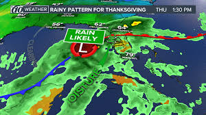 when was the last time it rained in ta on thanksgiving wtsp
