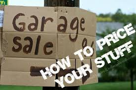 how to price things for a garage sale one hundred dollars a month