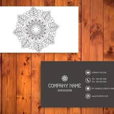 mandala business card template 10758 dryicons