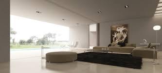 modern minimalist design of the interior living room with cream