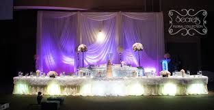 wedding backdrop toronto a reception decoration with ruffles and crystals