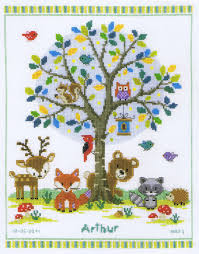 in the woods cross stitch kit by vervaco