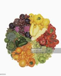 fruits and vegetables color wheel stock photo getty images