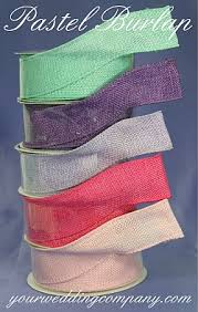 colored burlap ribbon wired faux burlap ribbon 15 colors