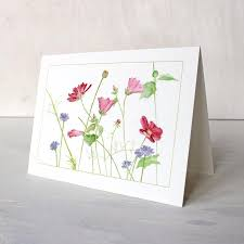 watercolor notecards wildflowers note cards trowel and paintbrush