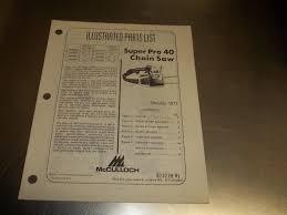 z349 mcculloch chain saw parts list manual super pro 40 u2022 8 99