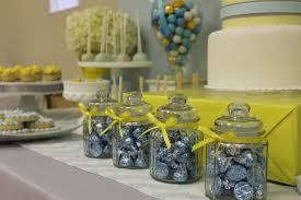 Baby Shower Decorations Yellow Gray Blue Yellow Baby Shower Ideas Via Babyshowerideas4u Delicious