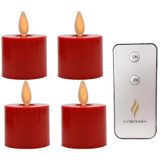 can you use tea light candles without holders 4 pcs luminara battery operated moving wick red flameless tea lights