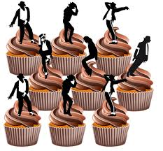 michael cake toppers michael jackson silhouettes fully edible birthday cup cake