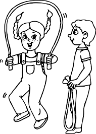 kids jumping kids coloring page wecoloringpage