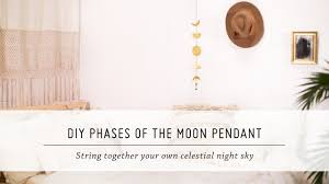diy phases of the moon pendant home decor tutorial mr kate