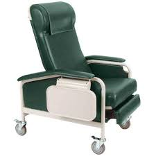 medical recliner with tray clinical chair winco carecliner 6530